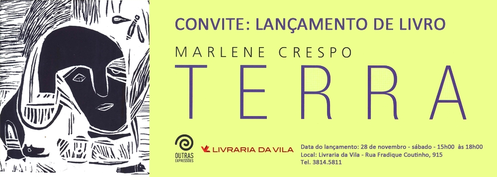 Convite Marlene Crespo livro terra