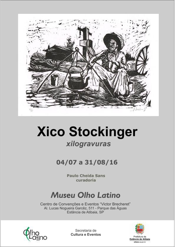 convite xilogravuras francisco xico stockinger atibaia museu olho latino curadoria paulo cheida sans