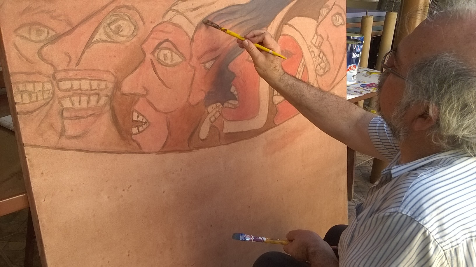 Paulo Cheida Pintando