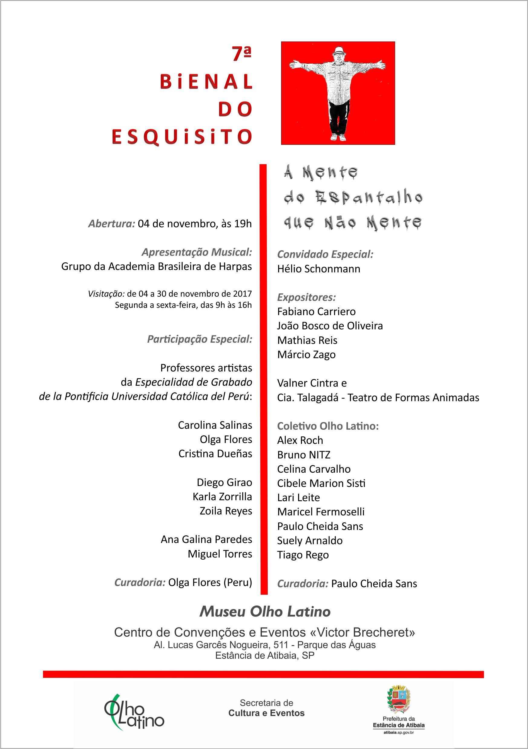convite 7 bienal do esquisito museu olho latino