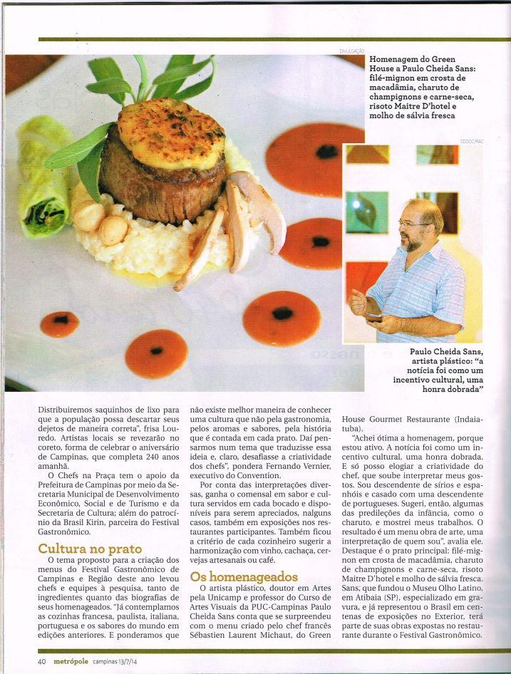 revista metropole paulo cheida sans green house gourmet