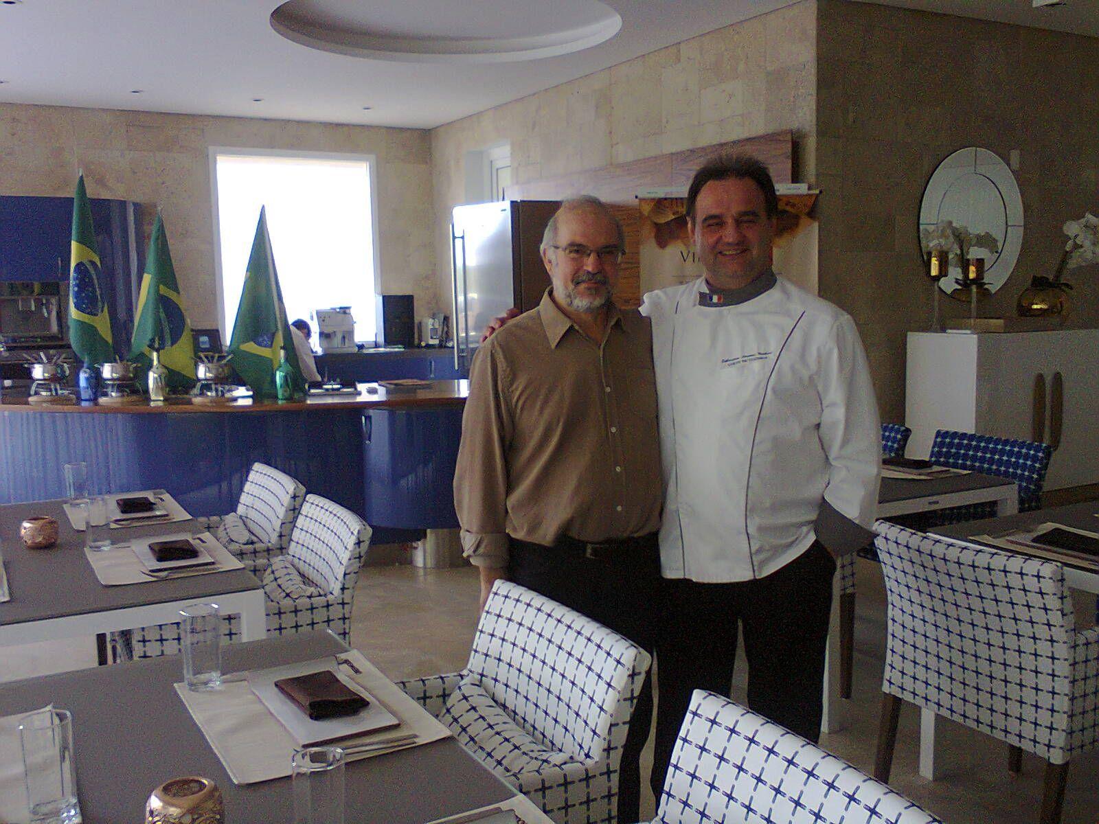 Paulo Cheida Sans e o chef francês Sébastien Laurent Michaut green gourmet restaurante